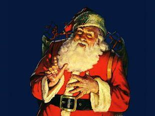 Santa Claus's Reindeer Rudolph Christmas Jolly Old Saint Nicholas PNG