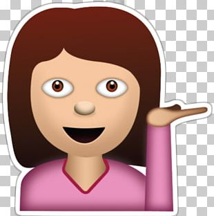 The Emoji Movie Sticker Woman Girl PNG