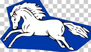 Blue Mustang Horse PNG