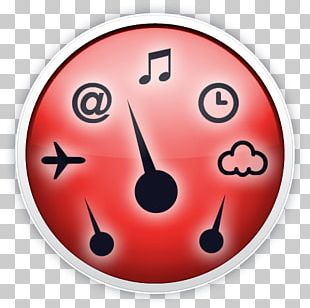 Smiley Clock Icon PNG