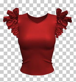 Ruffle T-shirt Clothing Designer PNG