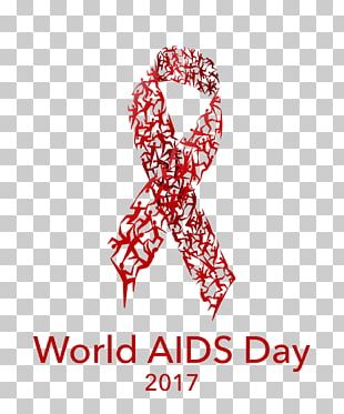 World AIDS Day HIV Infection 1 December Red Ribbon Health PNG