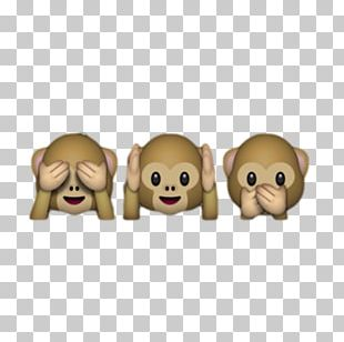 Three Wise Monkeys Emoji Sticker PNG