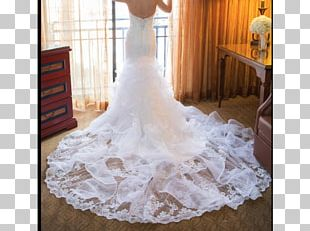 Wedding Dress Bride Satin Lace Gown PNG