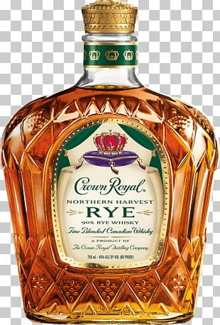 Crown Royal Canadian Whisky Rye Whiskey Distilled Beverage PNG