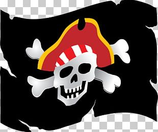 Piracy Jolly Roger Party Sticker Wall Decal PNG