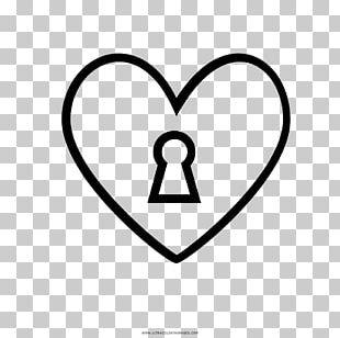 Drawing Pin Tumbler Lock Keyhole Black And White PNG