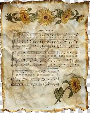 Paper Musical Note Sheet Music PNG