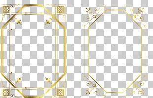 Frame Gold Pattern PNG