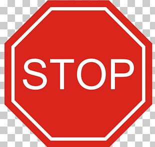 The Big Red Stop Sign Traffic Sign Signage PNG