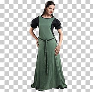 Middle Ages Gown Costume English Medieval Clothing Dress PNG