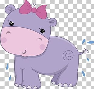 Hippopotamus Baby Shower Greeting & Note Cards Child PNG