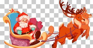 Christmas Ornament Reindeer Santa Claus PNG