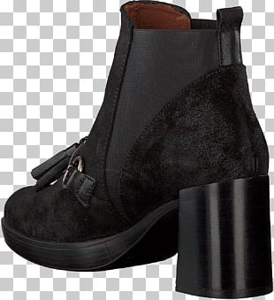 Suede Boot Shoe Black M PNG