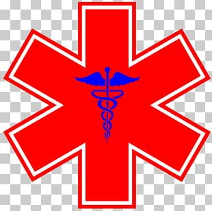 Star Of Life Emergency Medical Services Decal Emergency Medical Technician PNG