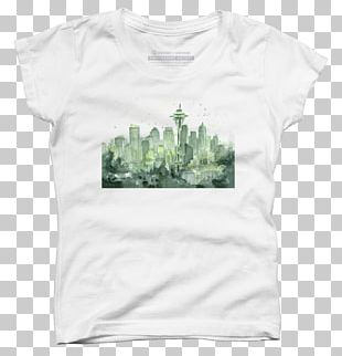 T-shirt Seattle Watercolor Painting Art PNG