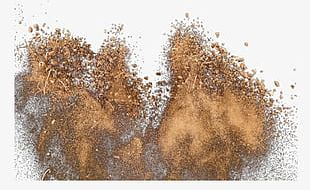 Sand Exploded Particles PNG