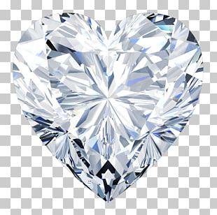 Diamond Cut Heart Engagement Ring Moissanite PNG