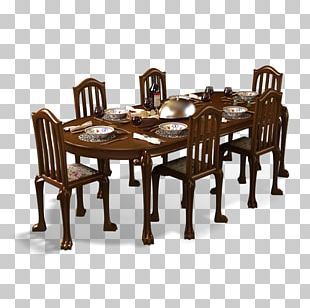 Table Furniture Dining Room Chair PNG