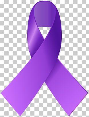Purple Ribbon Paper Awareness Ribbon PNG