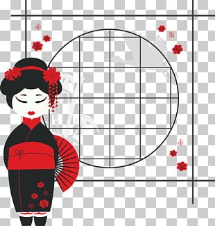 Japan Geisha Cartoon Illustration PNG