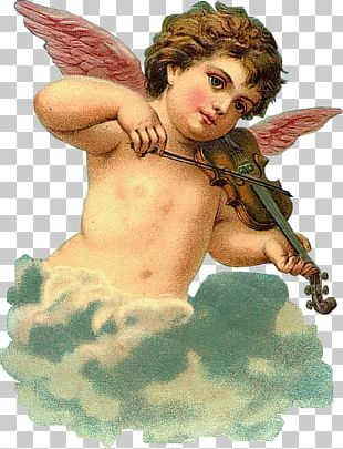 Vintage Clothing Angel Valentine's Day Vinegar Valentines PNG