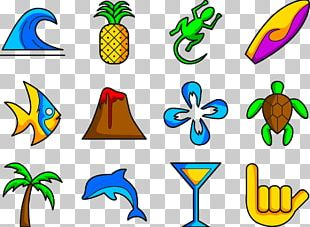Hawaii Symbol Surfing Icon PNG