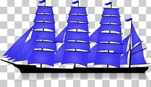 Sail Barque Mast Brigantine Schooner PNG