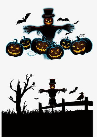 Ghost Halloween Scarecrow PNG