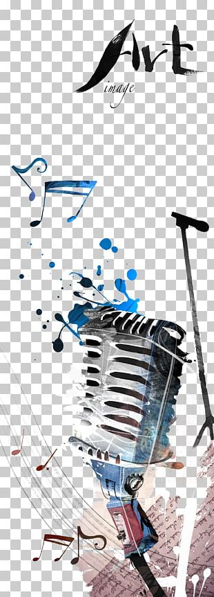 Microphone Poster Illustration PNG