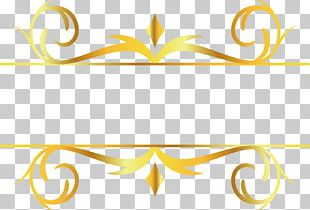 Gold Leaf Motif Pattern PNG