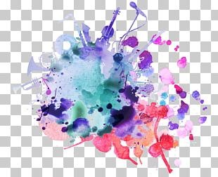 Watercolor Painting Music Festival Background Music PNG