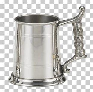 Mug Silver Tankard English Pewter PNG