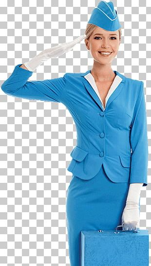 Stock Photography Flight Attendant Uniform Blue PNG