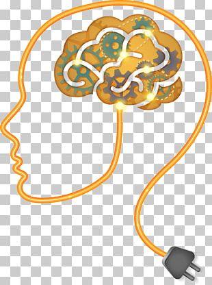 Brain Neurofeedback Icon PNG