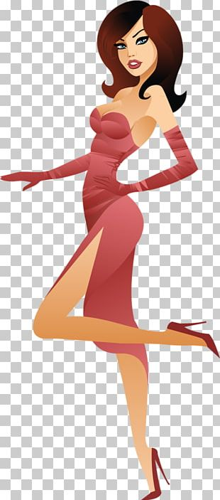 Fashion Girl Illustration PNG
