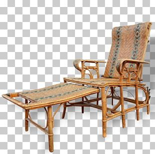 Rattan Chair Chaise Longue Furniture Wicker PNG