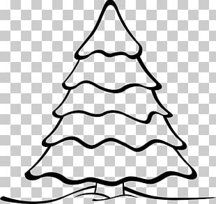 Christmas Tree Black And White White Christmas PNG
