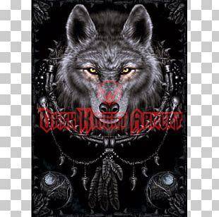 AllPosters.com Gray Wolf Dreamcatcher Art PNG