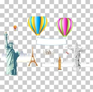 Statue Of Liberty Eiffel Tower Illustration PNG