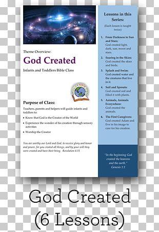 Bible Lesson Genesis Creation Narrative God Curriculum PNG