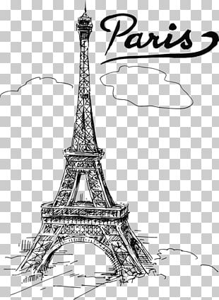 Eiffel Tower Drawing Watercolor Painting Sketch PNG