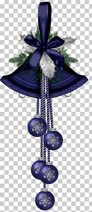 Blue Christmas Jingle Bell PNG