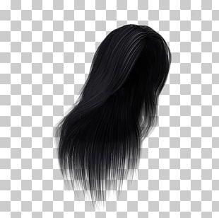 Black Hair Hair Coloring Long Hair Wig PNG