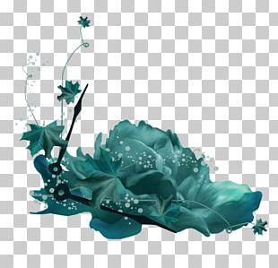 Blue Flower Scrapbooking Paper PNG