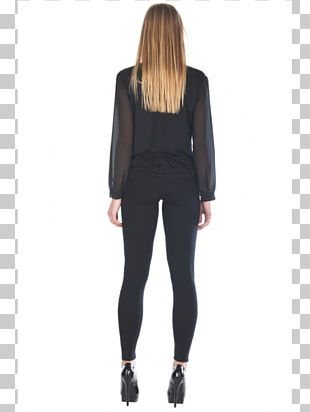 Leggings Shoulder Sleeve Black M PNG