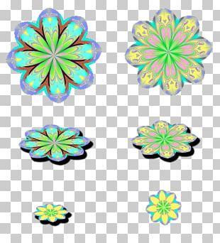 Cut Flowers Symmetry Body Jewellery Pattern PNG