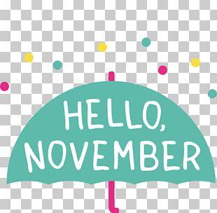 Quotation November English PNG