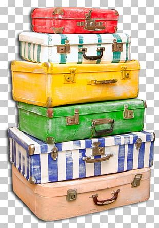 Suitcase Baggage Travel Check-in Hand Luggage PNG