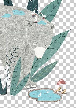 Bear Watercolor Painting Software Illustration PNG